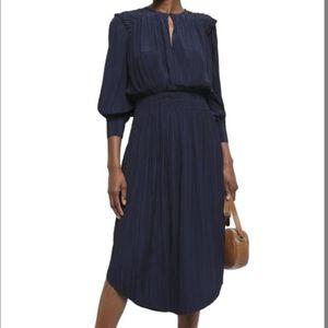 ❌SOLD❌Joie Rheia midi navy dress cinched waist